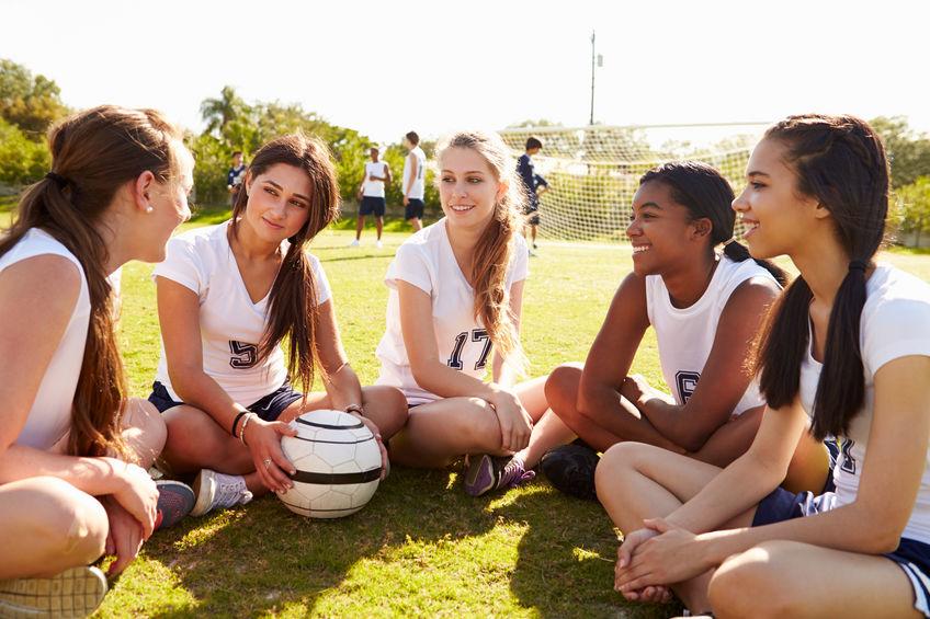 chicas listas para un partido