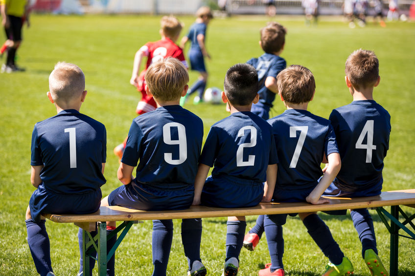 niños en equipo