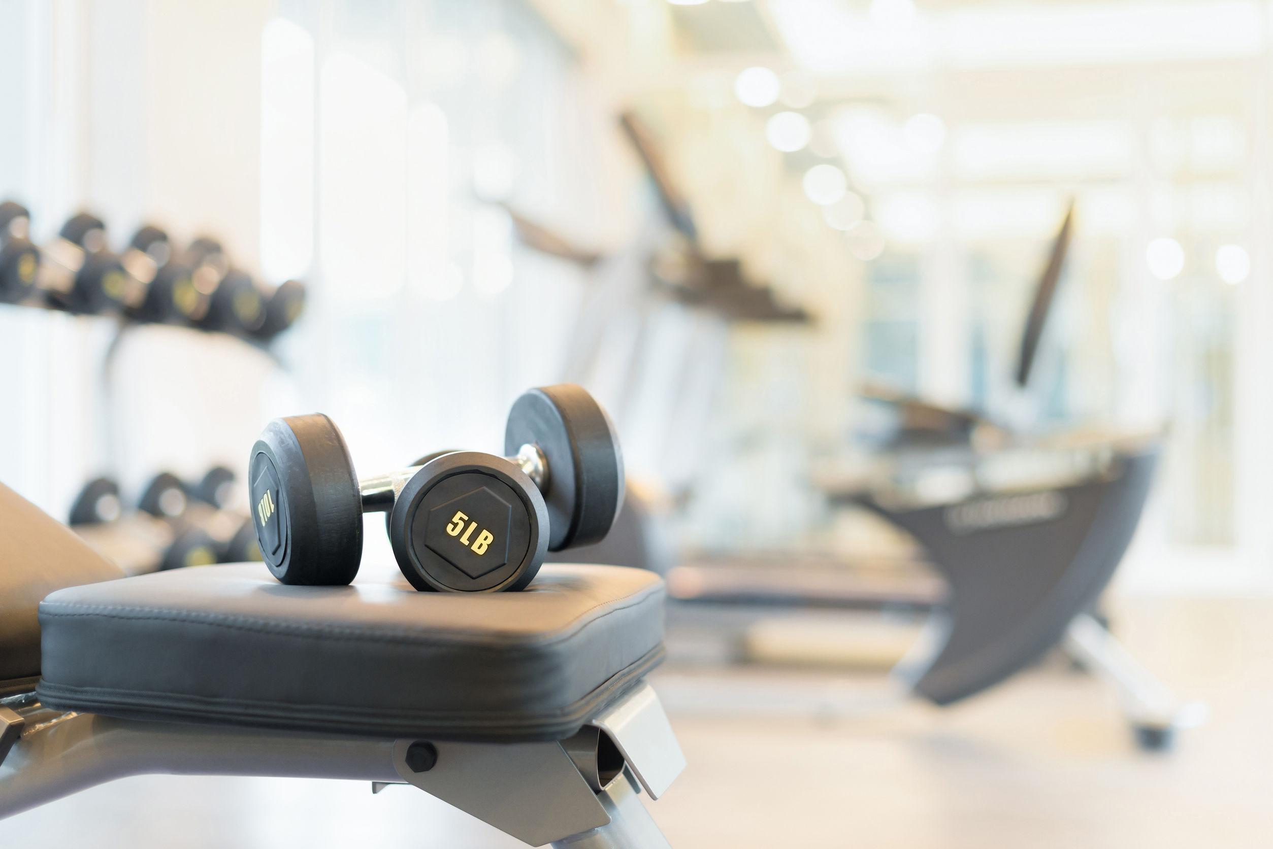 os pesas en el banco de musculacion