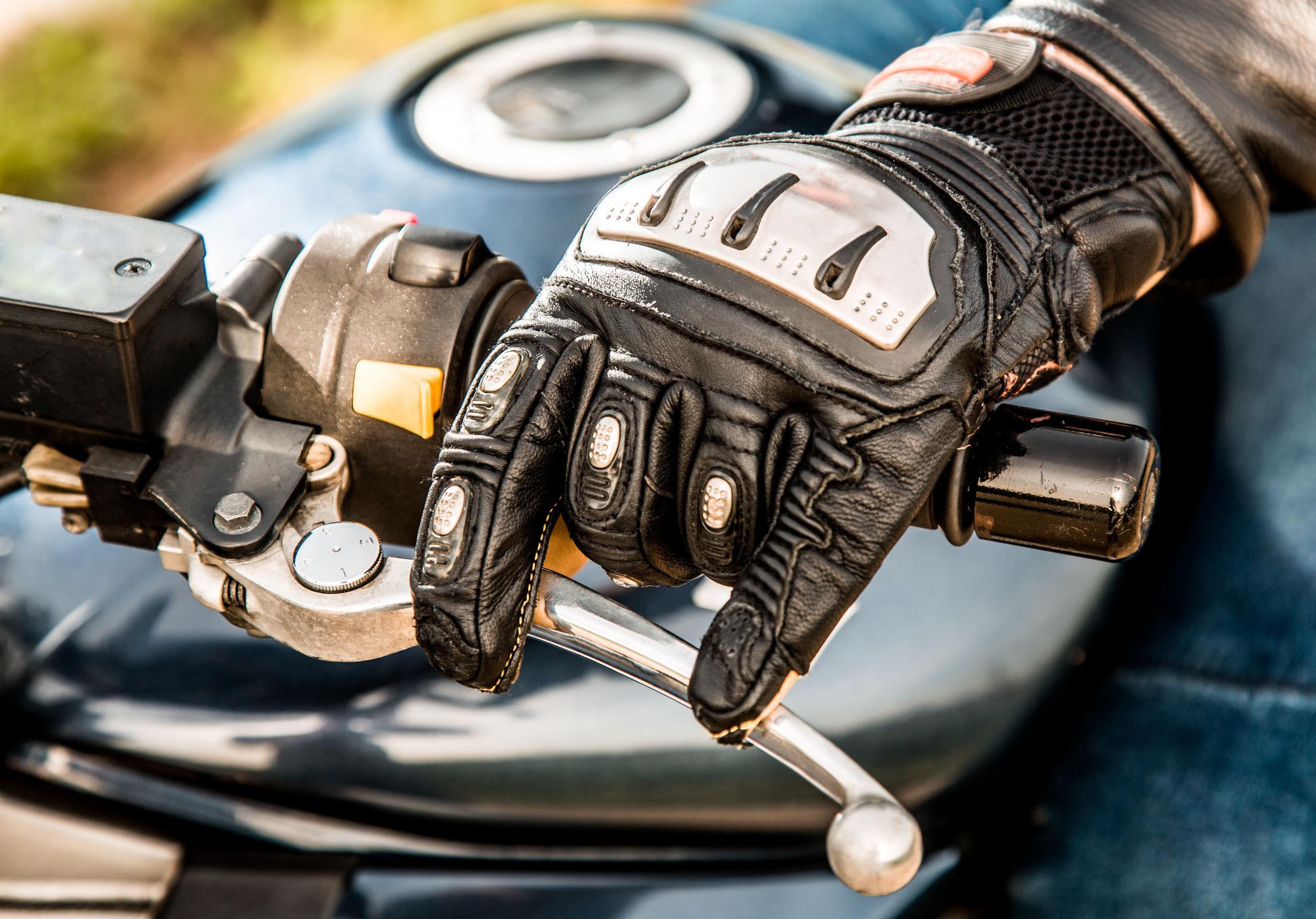 guantes de cuero para moto