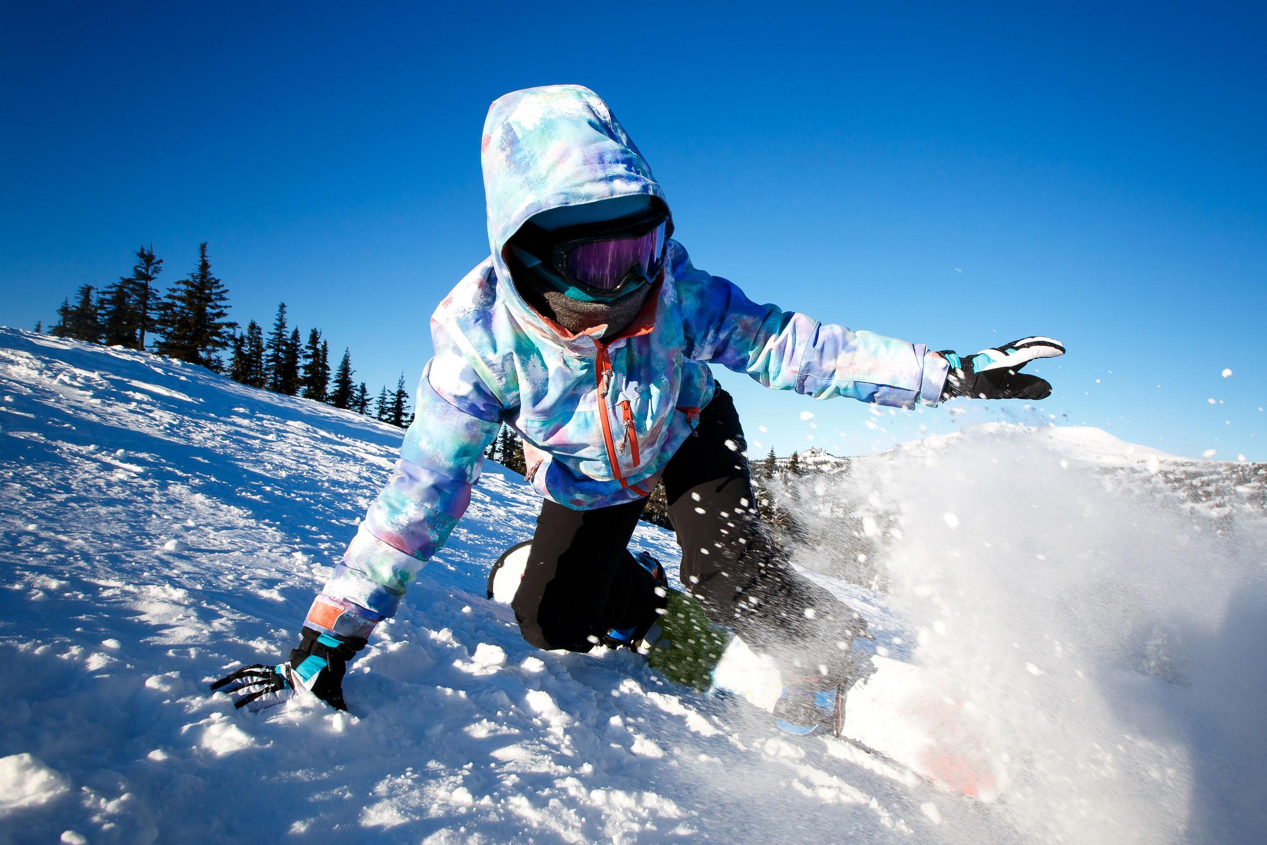 ski con pasamontañas