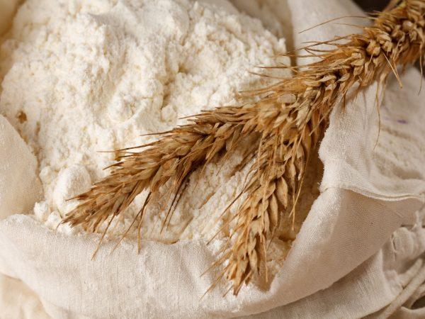 9537679 – whole flour with wheat ears