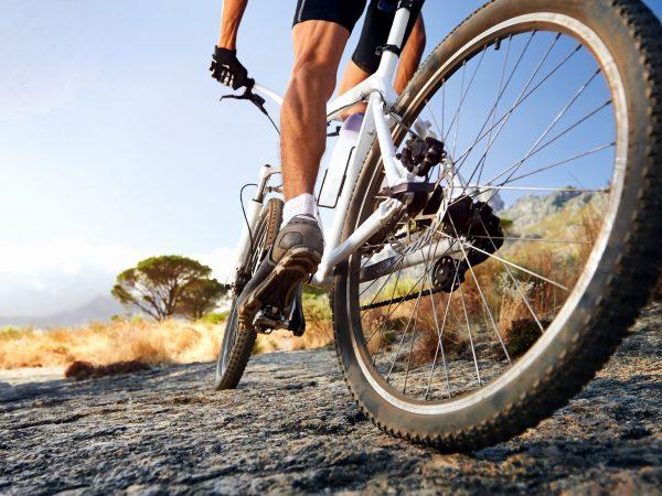 19141271 – extreme mountain bike sport athlete man riding outdoors lifestyle trail