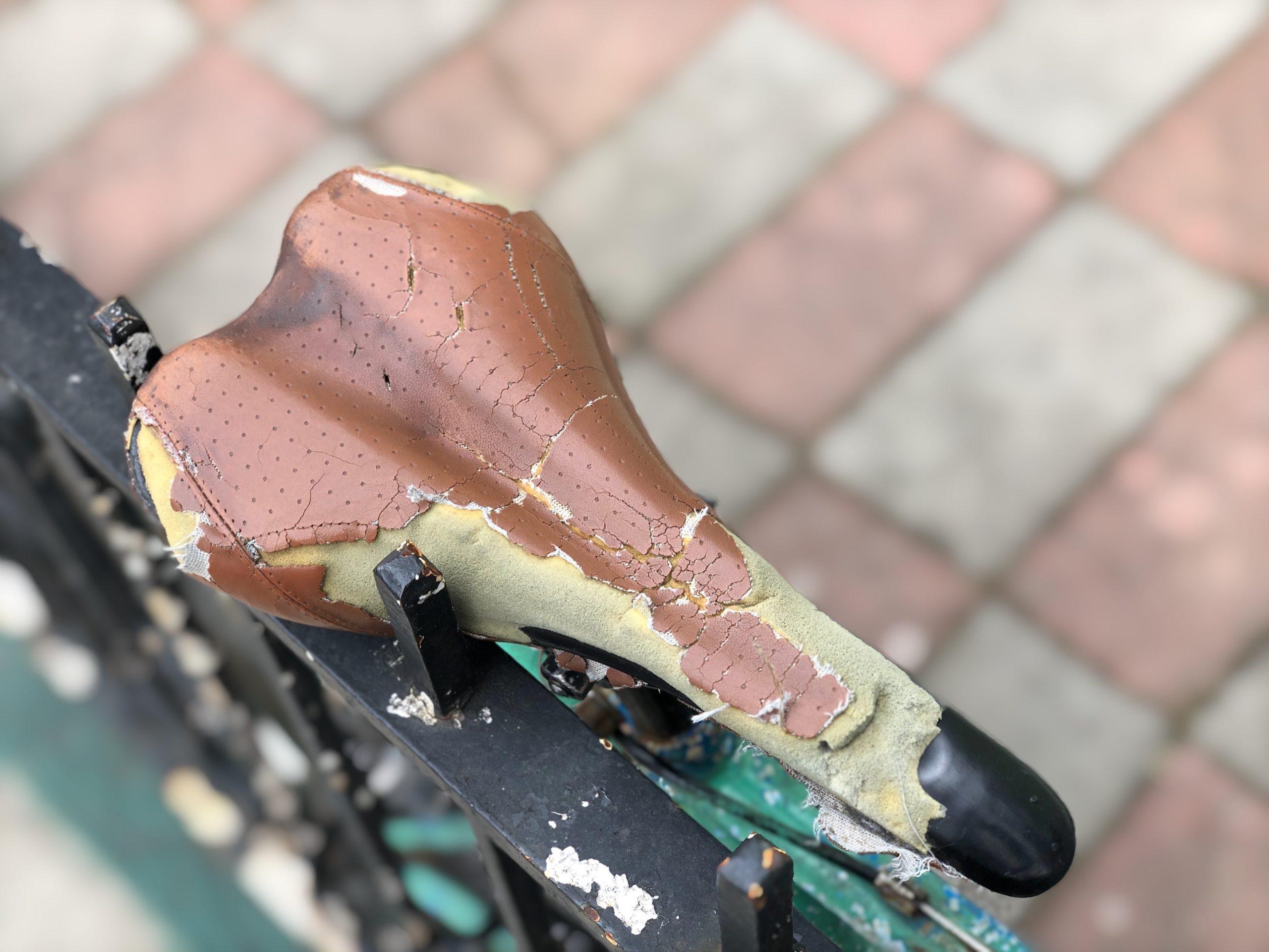 sillin de bicicleta desgastado