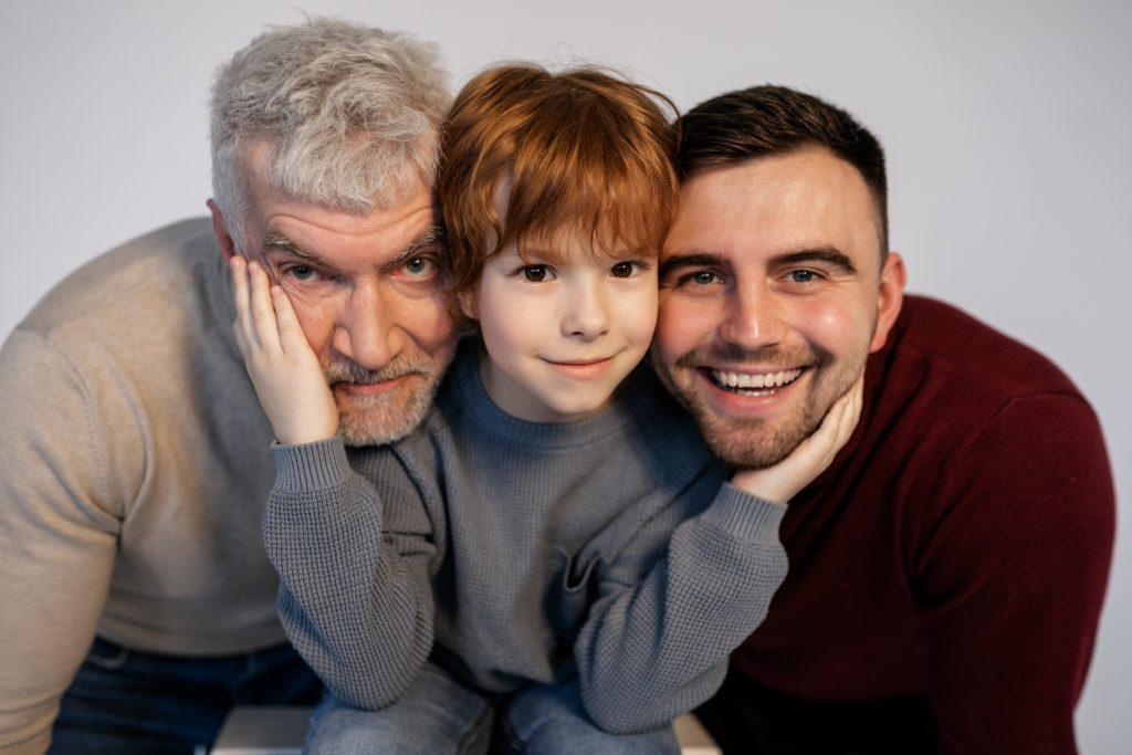 Padre abuelo e hijo