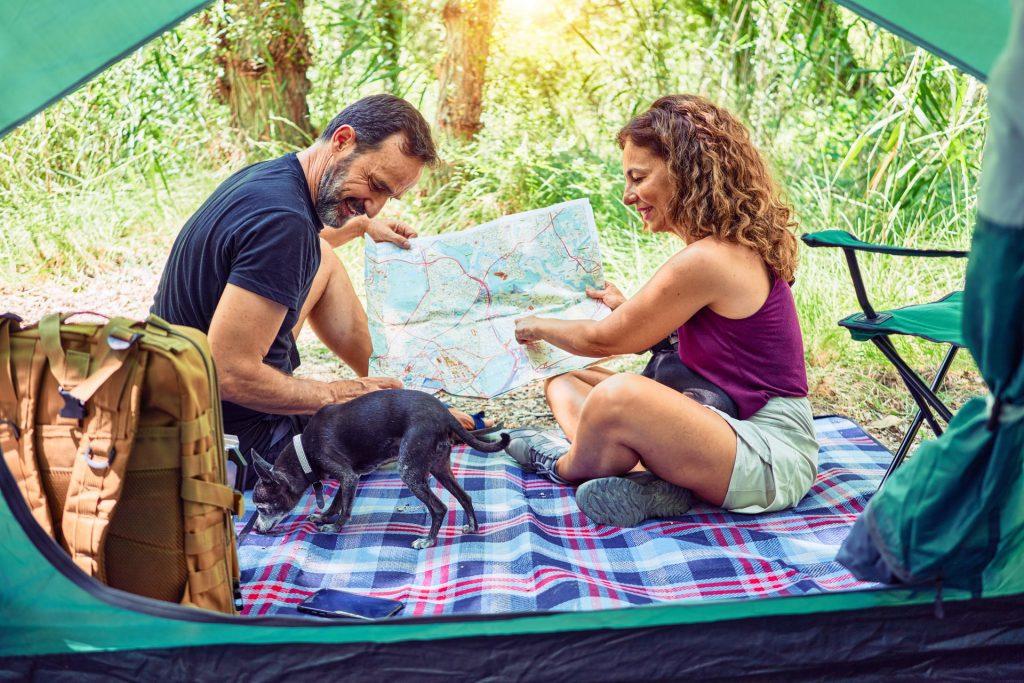 pareja de camping