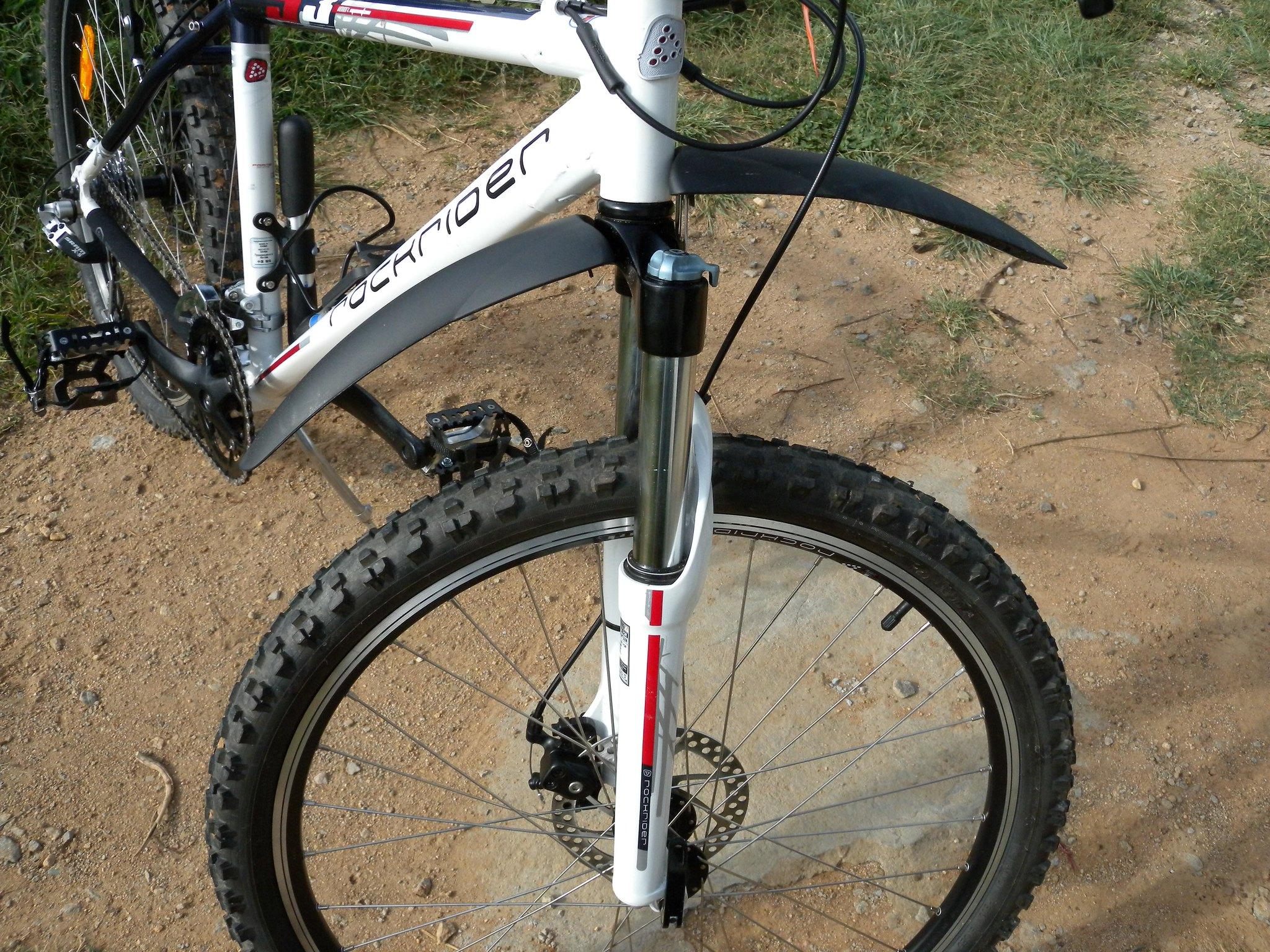 Bicicleta con guarda barros
