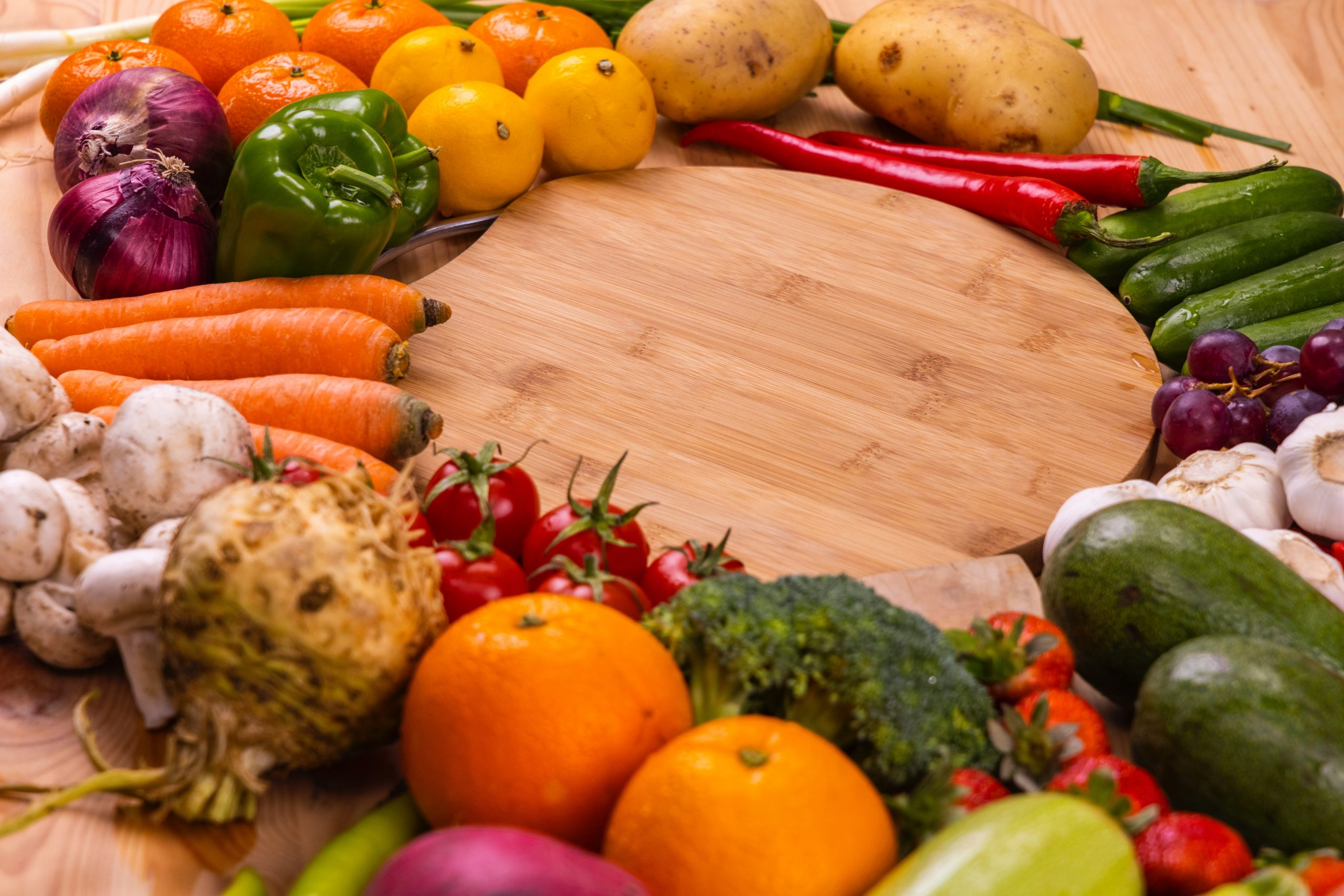 Verduras y frutas de acido fólico