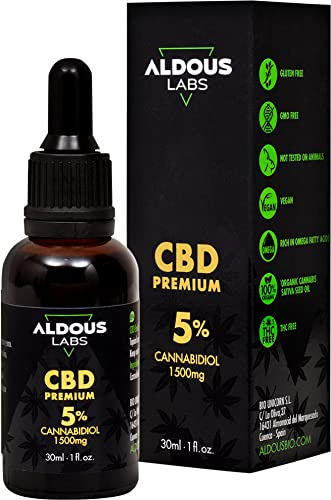 Auténtico CBD Oil 5%   Aceite de Cáñamo Bio enriquecido con 5% CBD   30ml - 1200 gotas Aceite CBD Premium   Hemp Oil con 1500mg de Cannabidiol   0% THC