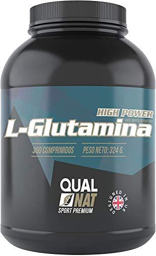 L-GLUTAMINA 360 Cápsulas| Suplementos para Ganar Masa Muscular| Aminoácido L-Glutamina | Aminoácido para el Entrenamiento con Pesas| QUALNAT