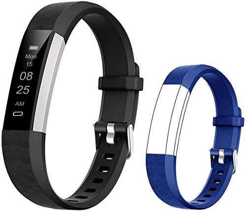 BIGGERFIVE Pulsera Actividad Inteligente Reloj Inteligente para Niños Niñas, Impermeable IP67 Deportivo Smartwatch con Podómetro Monitor de Sueño Contador de Caloría y Despertador Silencioso