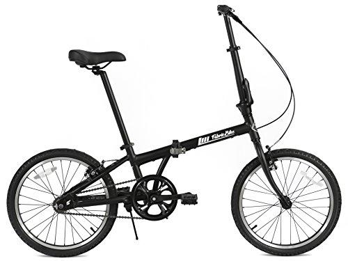 FabricBike Folding Bicicleta Plegable Cuadro Aluminio 3 Colores (Fully Matte Black)