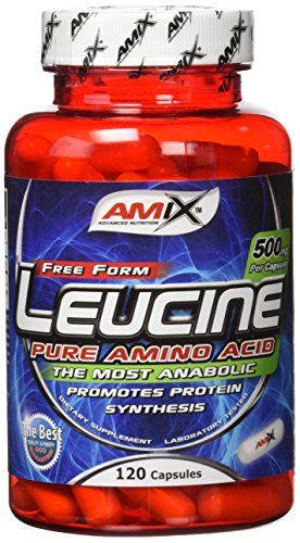 AMIX -Suplemento Alimenticio Leucina en 120 Cápsulas - Favorece la Recuperación Muscular y Ayuda a Definir los Músculos - Complemento Nutricional - Aporta Aminoácidos Esenciales