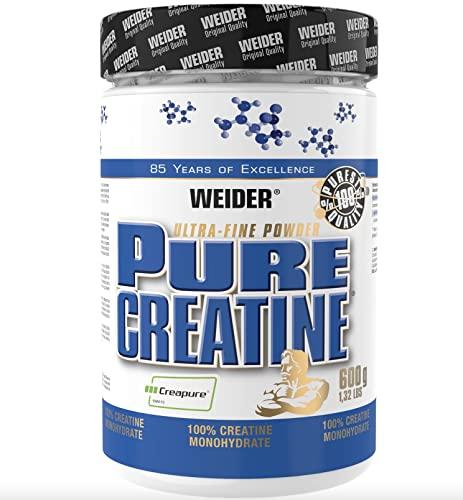 WEIDER Pure Creatine Powder, Creapure Creatine Monohydrate 600g para la fuerza y la potencia